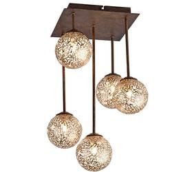 stropna svjetiljka led, halogena žarulja G9 200 W Paul Neuhaus GRETA 6234-48 hrđa, zlatna