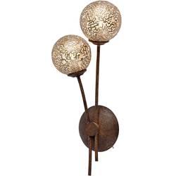 zidna svjetiljka G9 80 W led, halogena žarulja Paul Neuhaus GRETA 9032-48 hrđa, zlatna