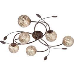 stropna svjetiljka led, halogena žarulja G9 240 W Paul Neuhaus GRETA 6398-48 hrđa, zlatna