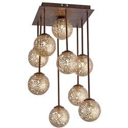 stropna svjetiljka led, halogena žarulja G9 360 W Paul Neuhaus GRETA 6238-48 hrđa, zlatna