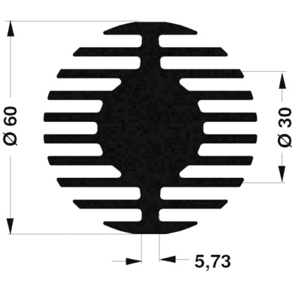 LED hladilno telo 1.45 K/W (premer x V) 60 mm x 50 mm Fischer Elektronik SK 578 50 SA