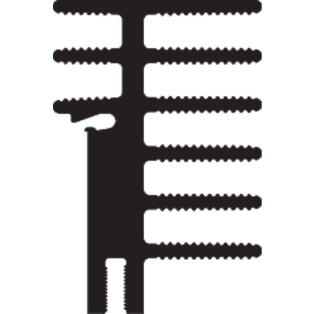 Hladilno telo 4.2 K/W (D x Š x V) 50 x 30 x 45 mm Fischer Elektronik SK 481 50 SA + 2x THFU 2