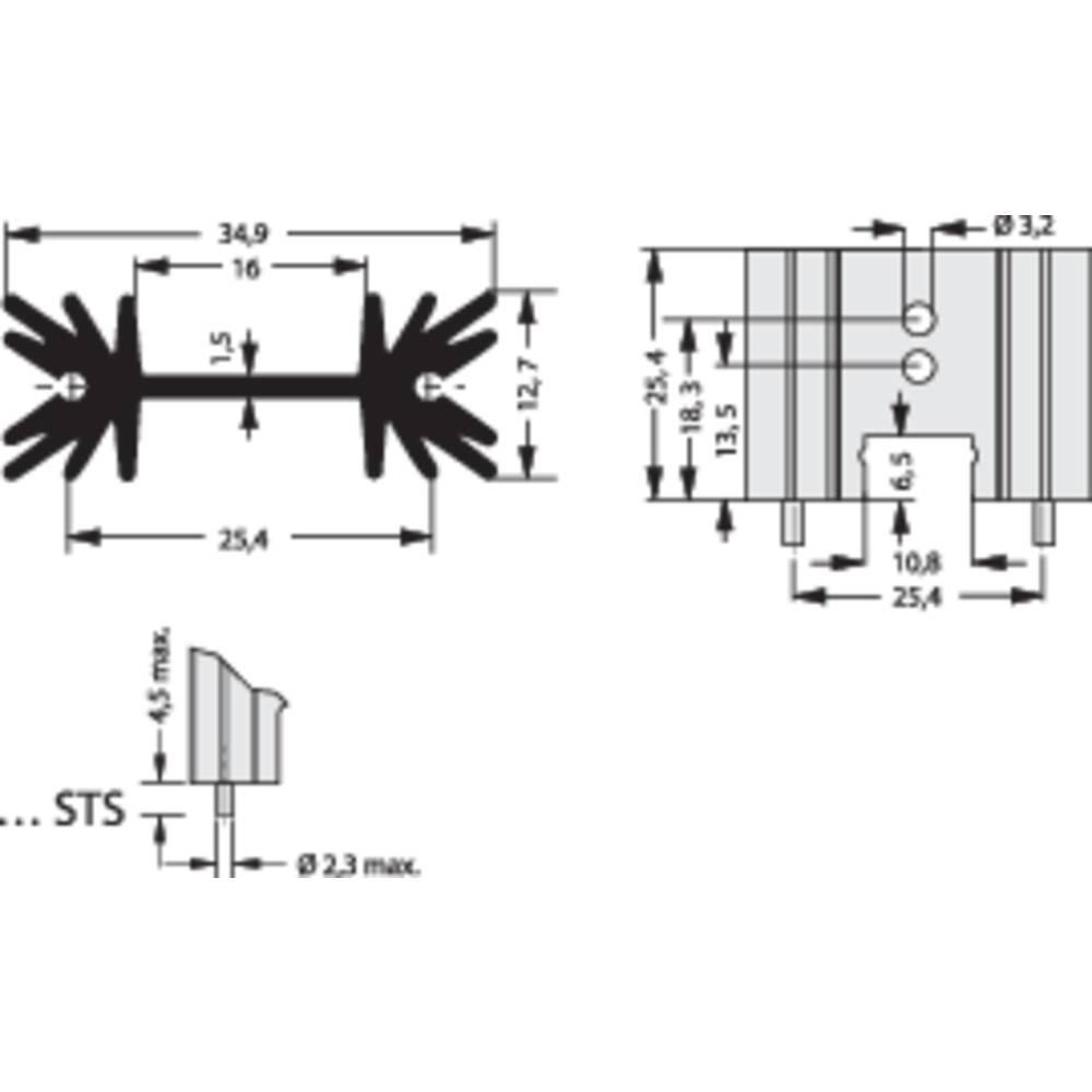 Profilno hladilno telo 14 K/W (D x Š x V) 34.9 x 25.4 x 12.7 mm TO-220, SOT-32 Fischer Elektronik SK 104 25,4 STS