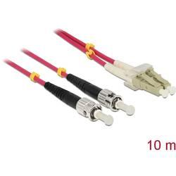 Delock Steklena vlakna LWL Priključni kabel [1x Moški konektor LC - 1x Moški konektor ST] 50/125 µ Multimode OM4 10 m