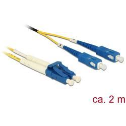 Delock Steklena vlakna LWL Priključni kabel [1x Moški konektor LC - 1x Moški konektor SC] 9/125 µ Singlemode OS2 2 m