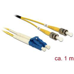 Delock Steklena vlakna LWL Priključni kabel [1x Moški konektor LC - 1x Moški konektor ST] 9/125 µ Singlemode OS2 1 m