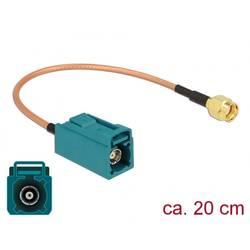 WLAN antene Priključni kabel [1x Fakra utičnica - 1x Muški konektor RP-SMA] 0.2 m Siva Delock