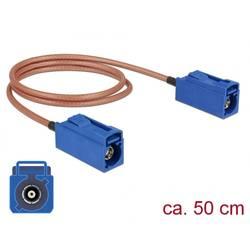 WLAN antene Priključni kabel [1x Fakra utičnica - 1x Fakra utičnica] 0.5 m Delock
