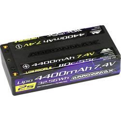LiPo akumulatorski paket za modele 7.4 V 4400 mAh Število celic: 2 55 C ArrowMax 4 mm zlati kontaktni vtič