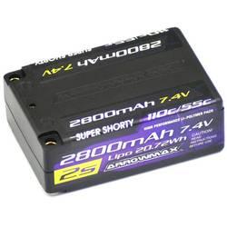 LiPo akumulatorski paket za modele 7.4 V 2800 mAh Število celic: 2 55 C ArrowMax 4 mm zlati kontaktni vtič