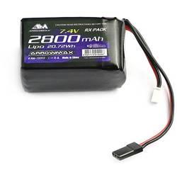 Baterija sprejemnika (LiPo) za modele 7.4 V 2800 mAh ArrowMax Izboklina JR