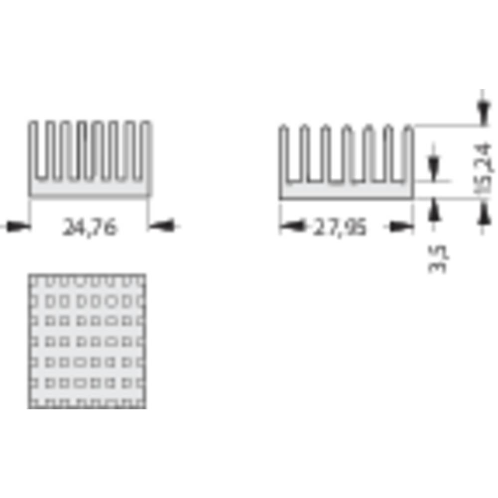 Kølelegemer 10.9 K/W (L x B x H) 27.95 x 24.76 x 15.24 mm Fischer Elektronik ICK PGA 11 X 11