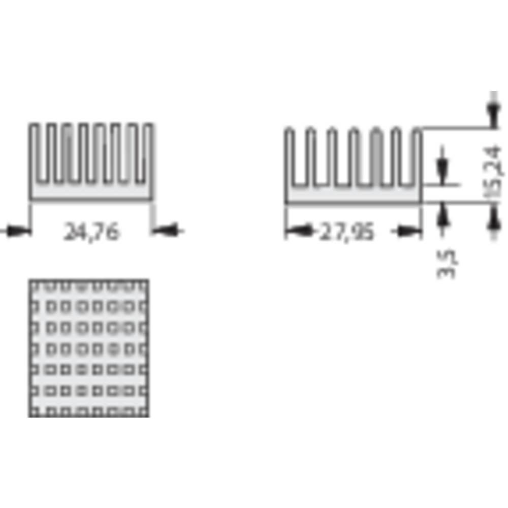 Hladilno telo 10.9 K/W (D x Š x V) 27.95 x 24.76 x 15.24 mm Fischer Elektronik ICK PGA 11 X 11