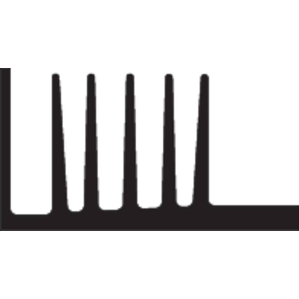 Kølelegemer 3.7 K/W (L x B x H) 75 x 46 x 25 mm TO-220 , TO-126 Fischer Elektronik SK 107 75 SA