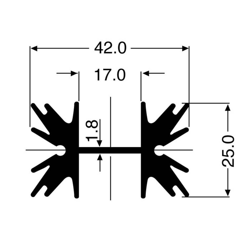 Profilno hladilno telo 5 K/W (D x Š x V) 38 x 42 x 25 mm TO-220, SOT-32 Fischer Elektronik SK 129 38,1 STS