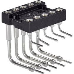IC-fatning Rastermål: 7.62 mm Poltal: 10 Preci Dip Pins i en 90°-vinkel 1 stk
