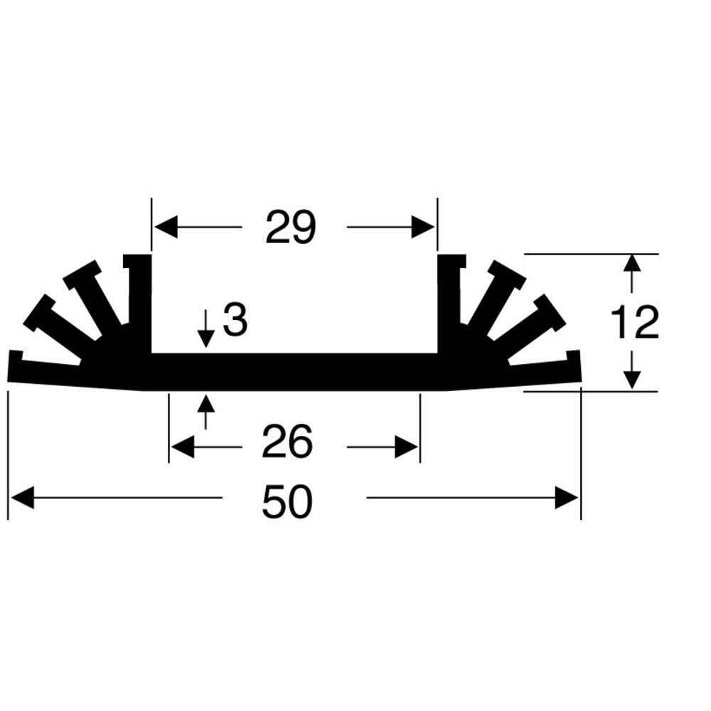 Hladilno telo 8 K/W (D x Š x V) 37.5 x 50 x 12 mm Fischer Elektronik SK 31 37,5 SA
