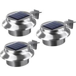 easymaxx solarno svjetlo za žljebove 0612 3-dijelni komplet led toplo-bijela plemeniti čelik (brušeni)