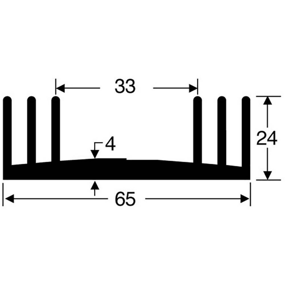 Hladilno telo 3.3 K/W (D x Š x V) 50 x 65 x 24 mm Fischer Elektronik SK 18 50 SA