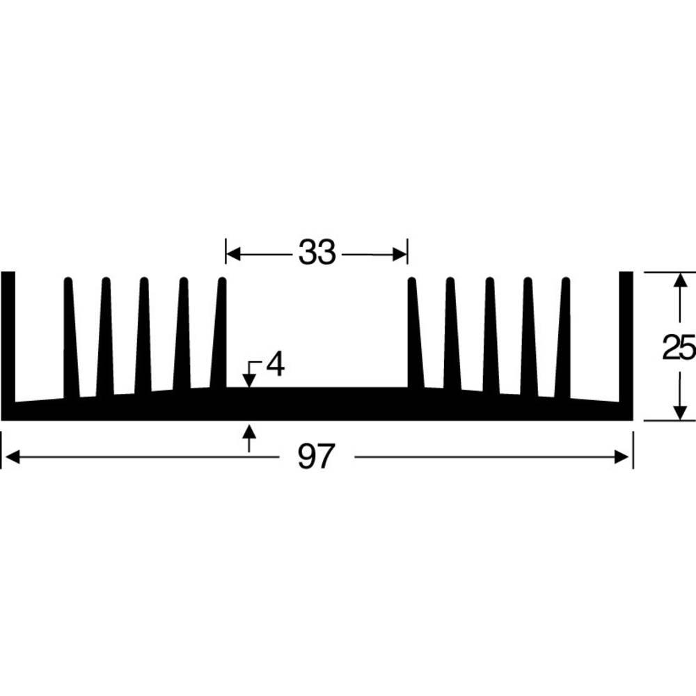 Hladilno telo 1.6 K/W (D x Š x V) 100 x 97 x 25 mm Fischer Elektronik SK 72 100 SA