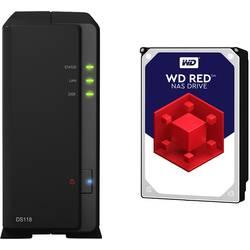 NAS strežnik 3 TB Synology DiskStation DS118-3TB-RED Opremljen z WD RED