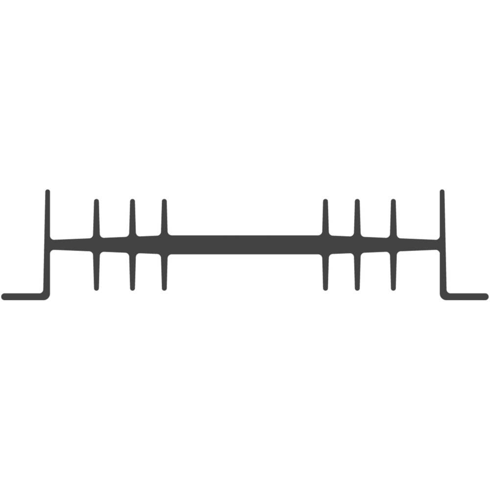 Hladilno telo 2.3 K/W (D x Š x V) 75 x 111 x 26 mm Fischer Elektronik SK 01 75 SA-CB