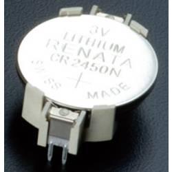 Nosilec gumbnih baterij 1 CR 2450, CR 2450N Vodoravno, Vtična montaža THT (D x Š x V) 33 x 16.1 x 7.3 mm Takachi HU2450
