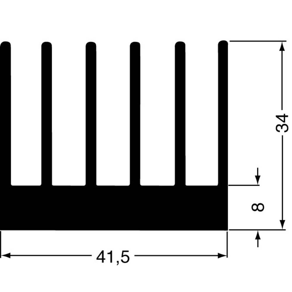 Profilno hladilno telo 2.8 K/W (D x Š x V) 100 x 41.5 x 34 mm Fischer Elektronik SK 189 100 SA
