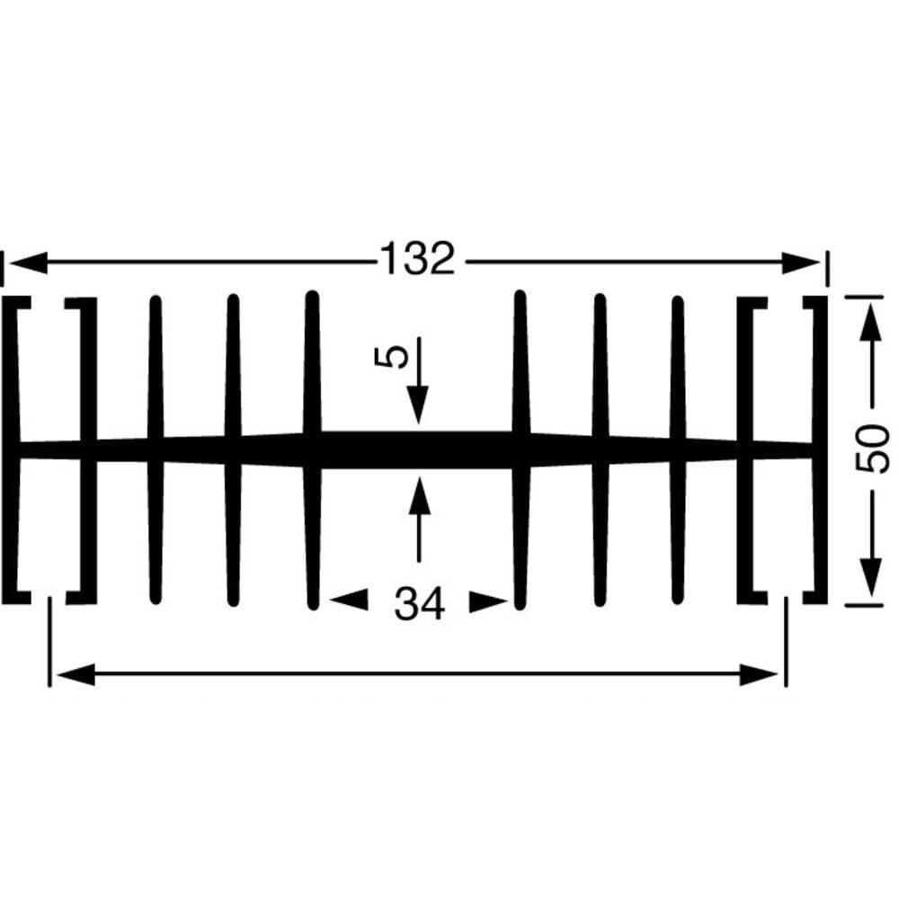 Hladilno telo 1.1 K/W (D x Š x V) 100 x 132 x 50 mm Fischer Elektronik SK 148 100 SA