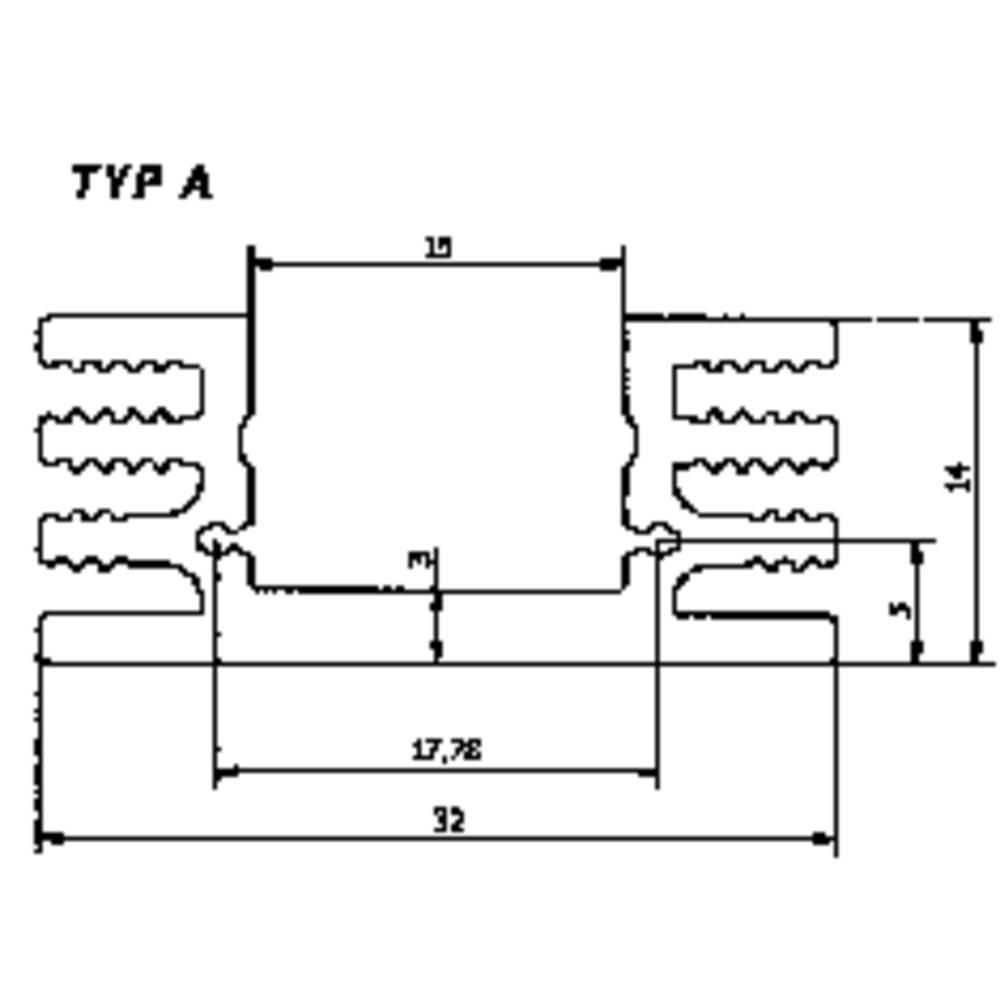 Hladilno telo 4.5 K/W (D x Š x V) 50 x 32 x 14 mm TO-220, TO-126 Fischer Elektronik SK 75 50 SA