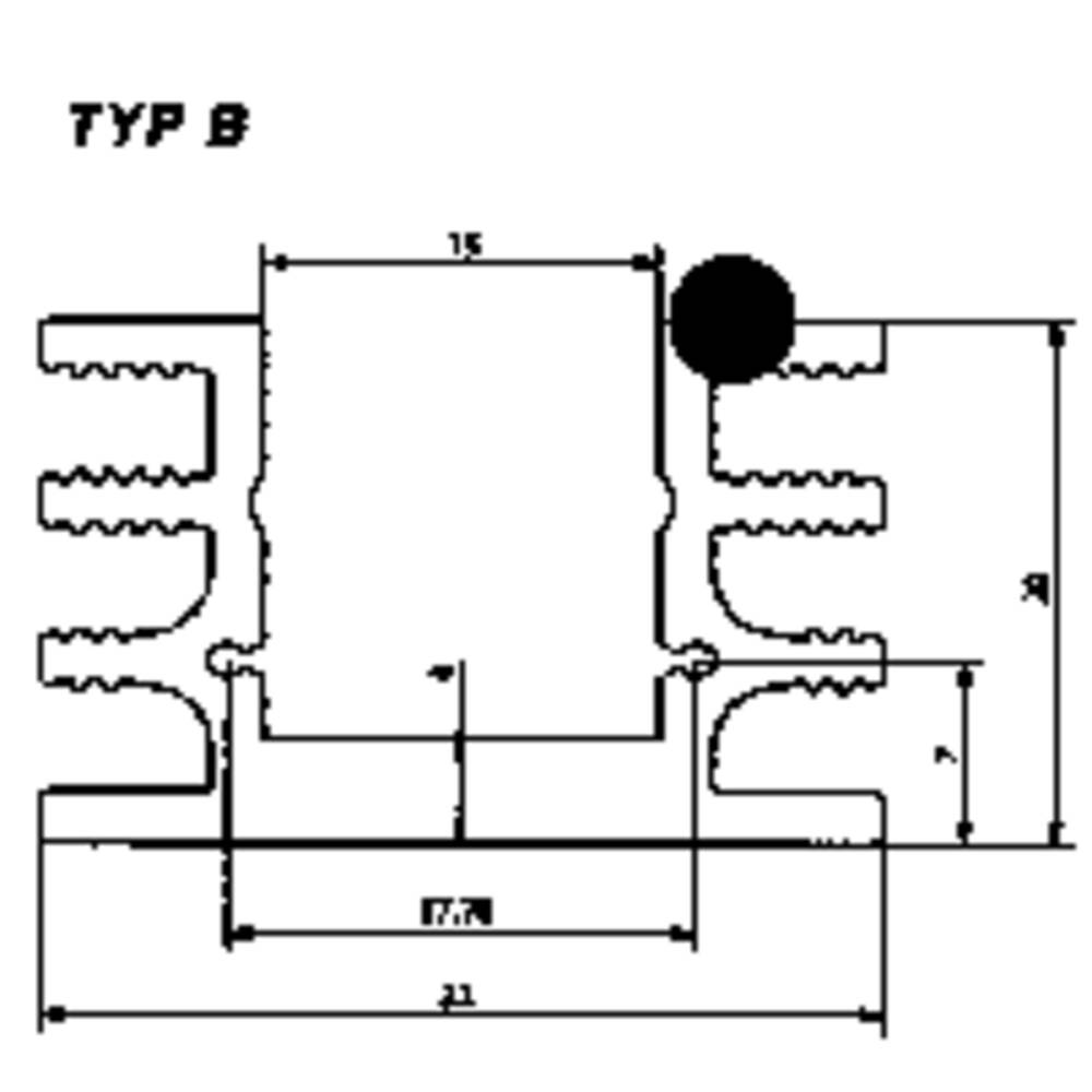 Kølelegemer 6.5 K/W (L x B x H) 37.5 x 32 x 20 mm TO-220 , TO-126 Fischer Elektronik SK 76 37,5 SA