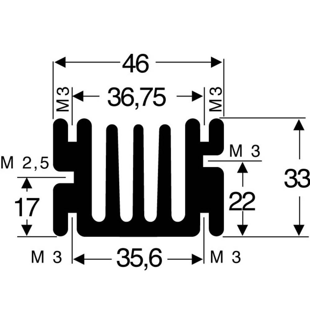 Kølelegemer 3.6 K/W (L x B x H) 75 x 46 x 33 mm SOT-32, TO-220 Fischer Elektronik SK 68 75 SA