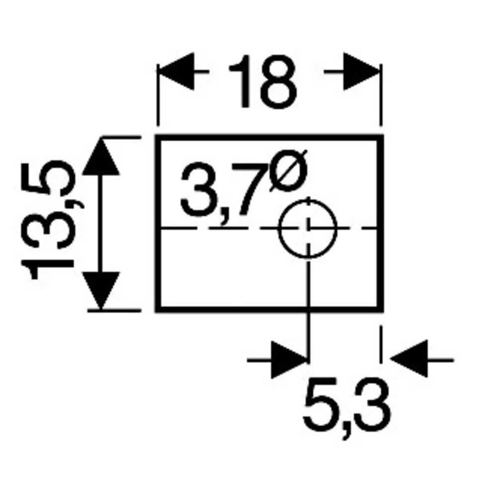 Sljudna ploščica (D x Š) 18 mm x 13.5 mm primerna za TOP-66 Fischer Elektronik GS 66 P 1 kos