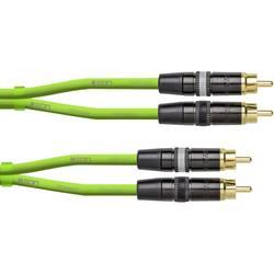 Avdio Connection cable [1x Moški cinch konektor - 1x Moški cinch konektor] 0.6 m Zelena (neonska) Cordial