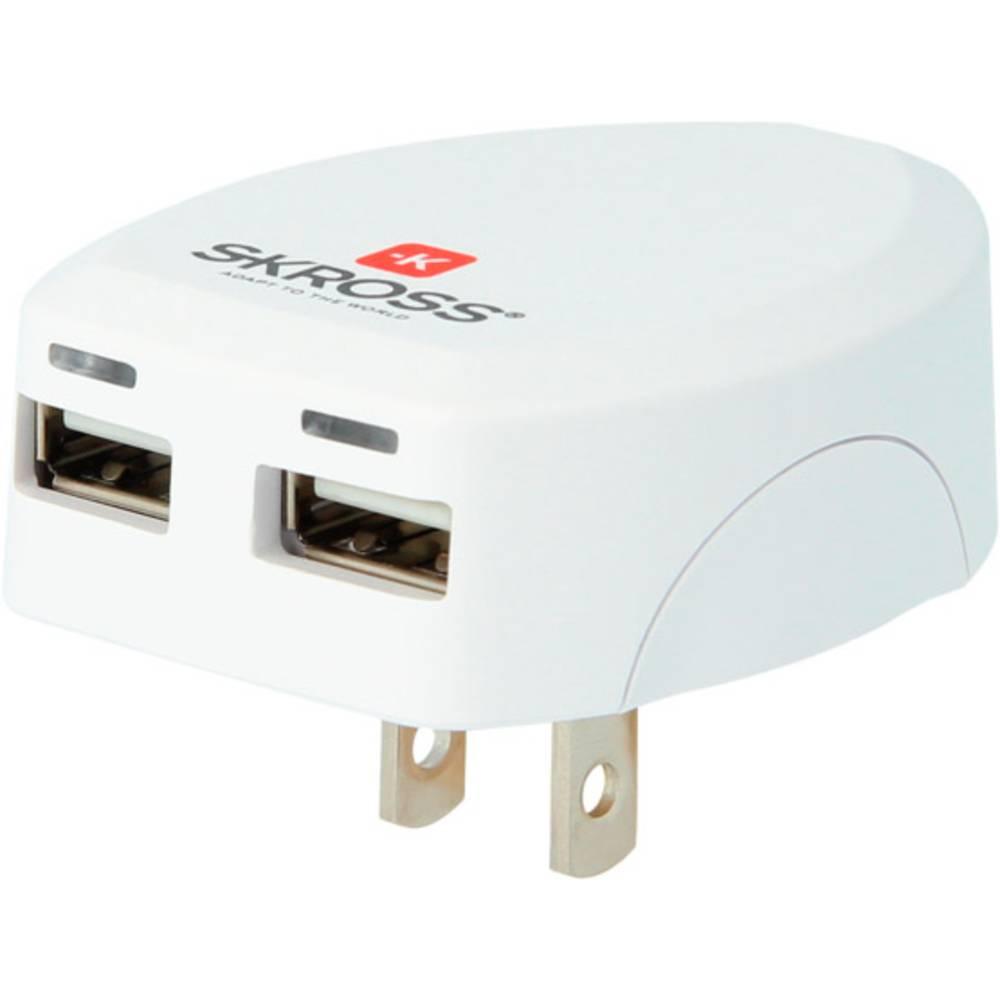 Skross 1.302730-E USB napajalnik vtičnica Izhodni tok maks. 2.4 A 2 x USB