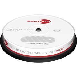 DVD+R DL prazan 8.5 Primeon 2761250 10 ST Vreteno Premaz protiv ogrebotina, Vodootporan, Otporan na brisanje