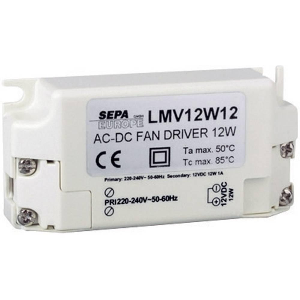 Forkoblingsenhed til ventilator SEPA LMV12W12/220-240V 12 V/DC 12 W 1 stk