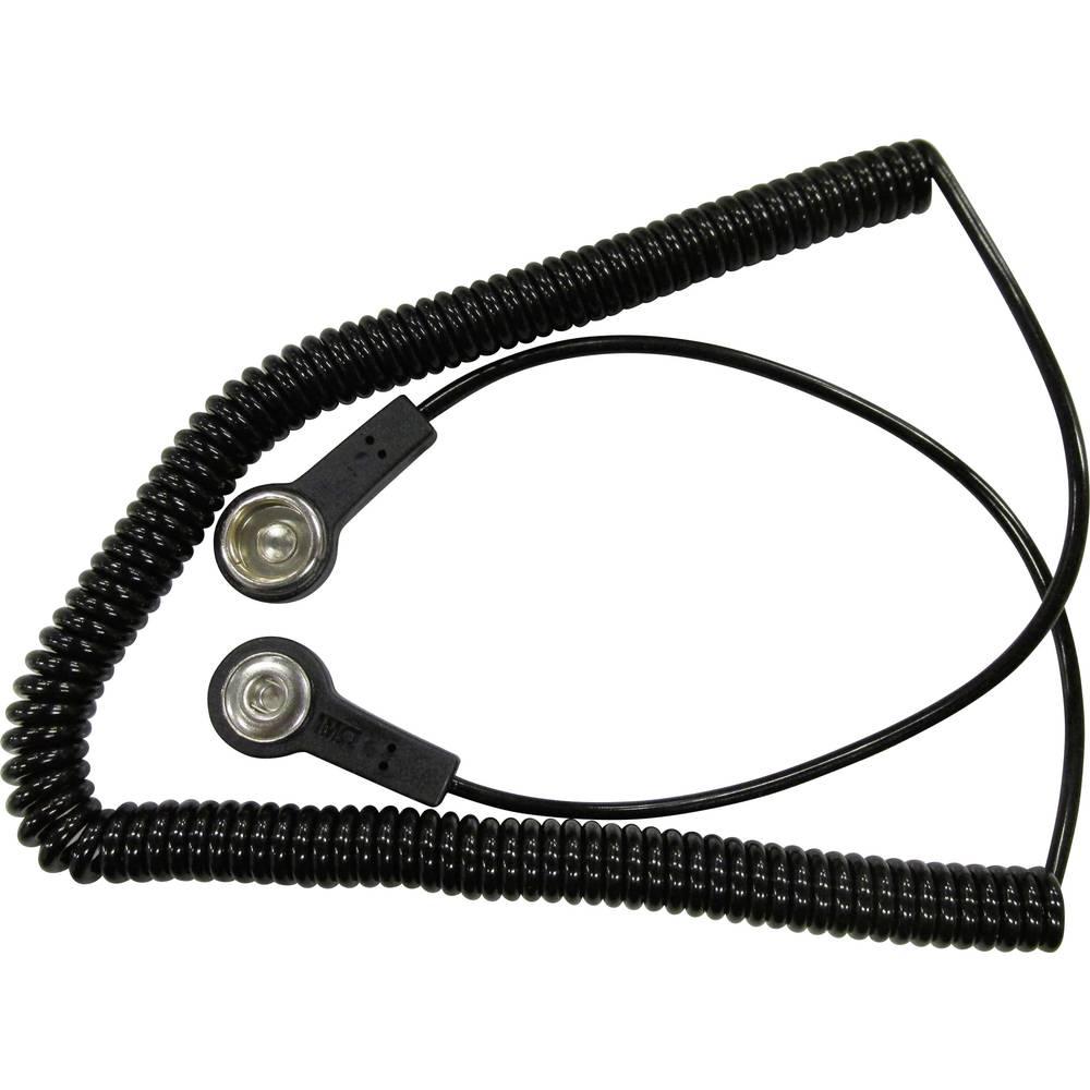 ESD ozemljitveni kabel 2.40 m BJZ C-191 086 pritisni gumb 10.3 mm, pritisni gumb 4 mm