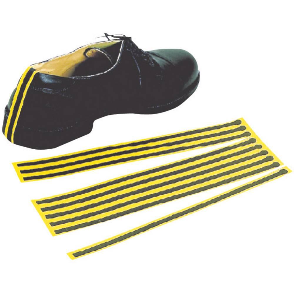 ESD trak za za ozemljitev čevljev, za enkratno uporabo 10 kosov rumene, črne barve BJZ C-199 2151-C