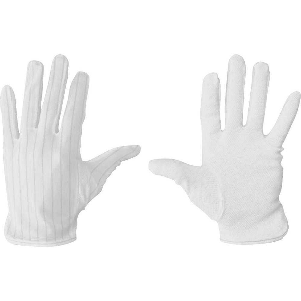 ESD-handske BJZ C-199 2814-L C-199 2814-L Størrelse L skridsikker Polyester, Polyuretan Hvid, Sort