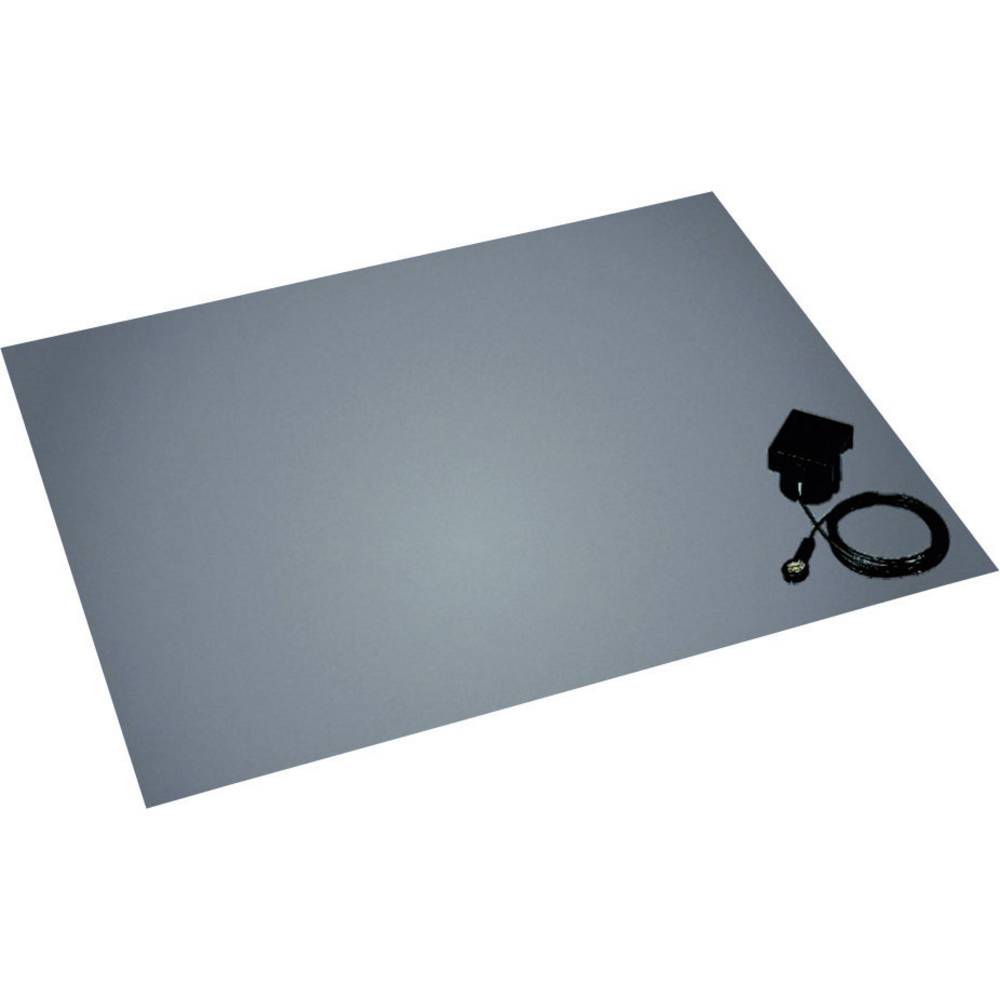 ESD talna podloga v setu, platinasto sive barve (D x Š x V) 1500 x 1200 x 3.5 mm BJZ C-211 152 10,3 vklj. ozemljitveni vtič