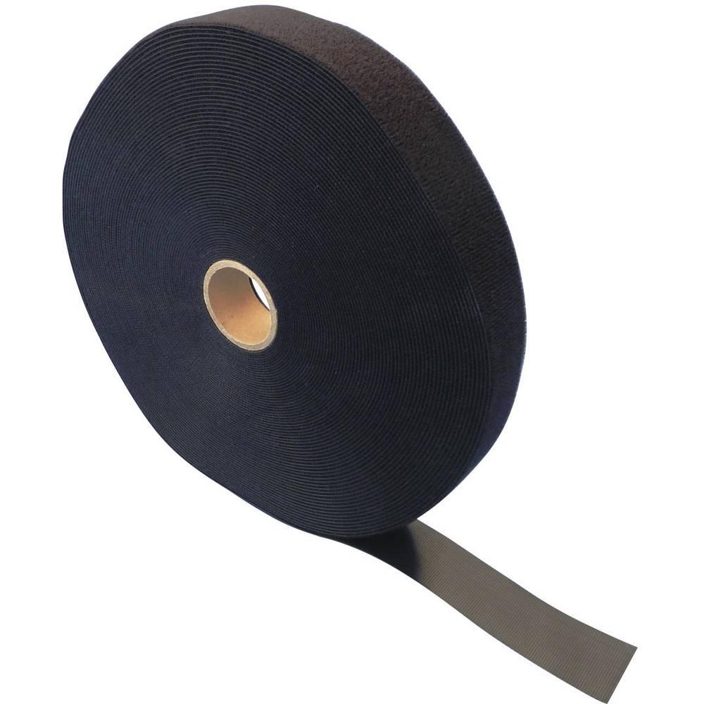 Traka s čičkom za vezanje ETN FAST-Strap Fastech prianjajući i mekani dio (D x Š) 25 m x 30 mm crna 30 MM 25 m