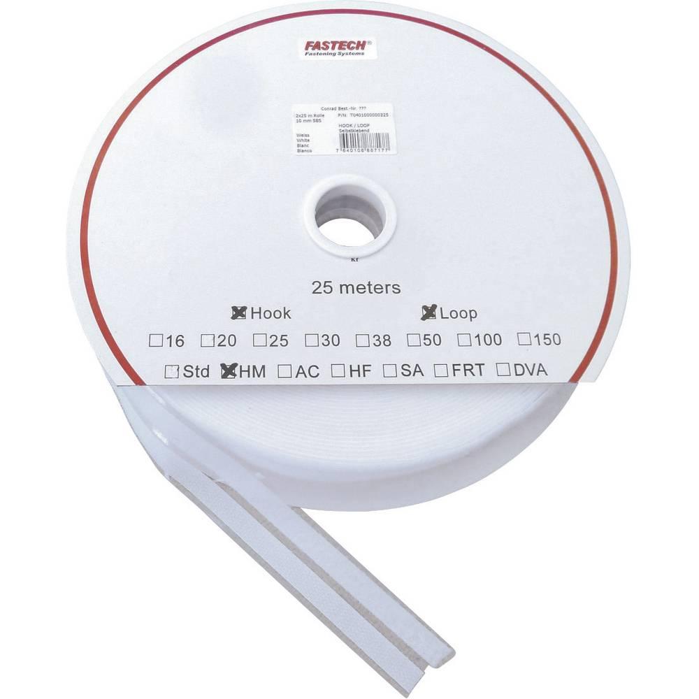 Samoljepljiva traka s čičkom SBS H/L Fastech prianjajući i mekani dio (D x Š) 25 m x 10 mm bijela 10 MM 2x25 M HM 1 par