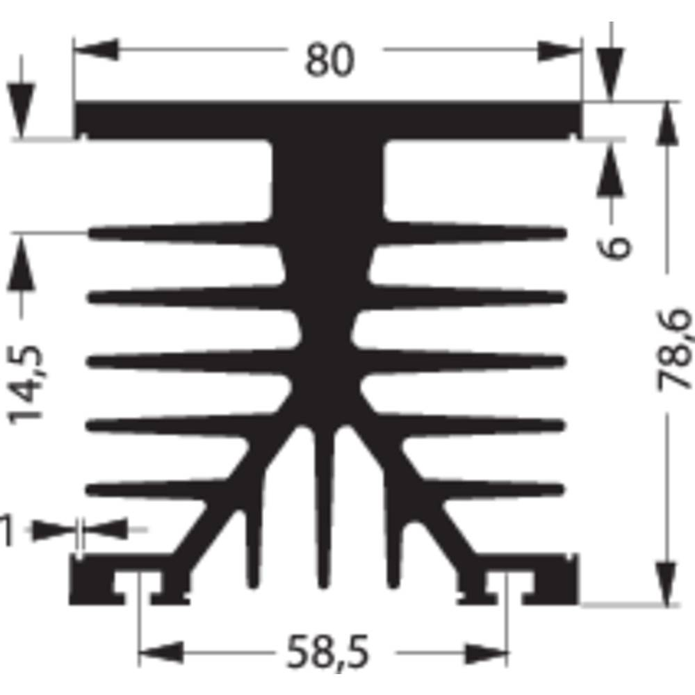 Hladilno telo 1.2 K/W (D x Š x V) 80 x 75 x 87 mm Fischer Elektronik SK 89 75 KL-SSR1