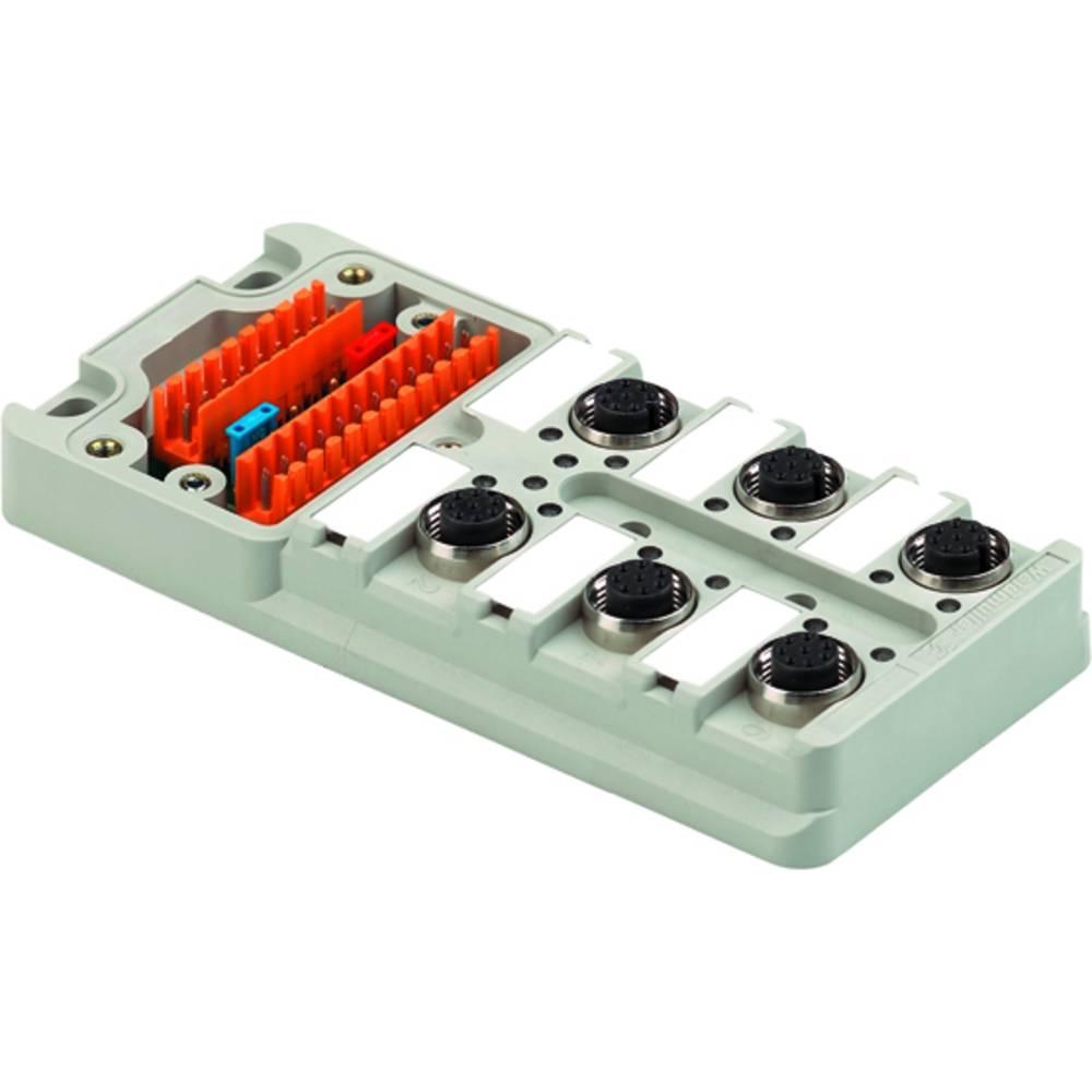 Sensor/aktorbox passiv M12-fordeler med metalgevind SAI-6-M 4P M12 UT 1705931000 Weidmüller 2 stk