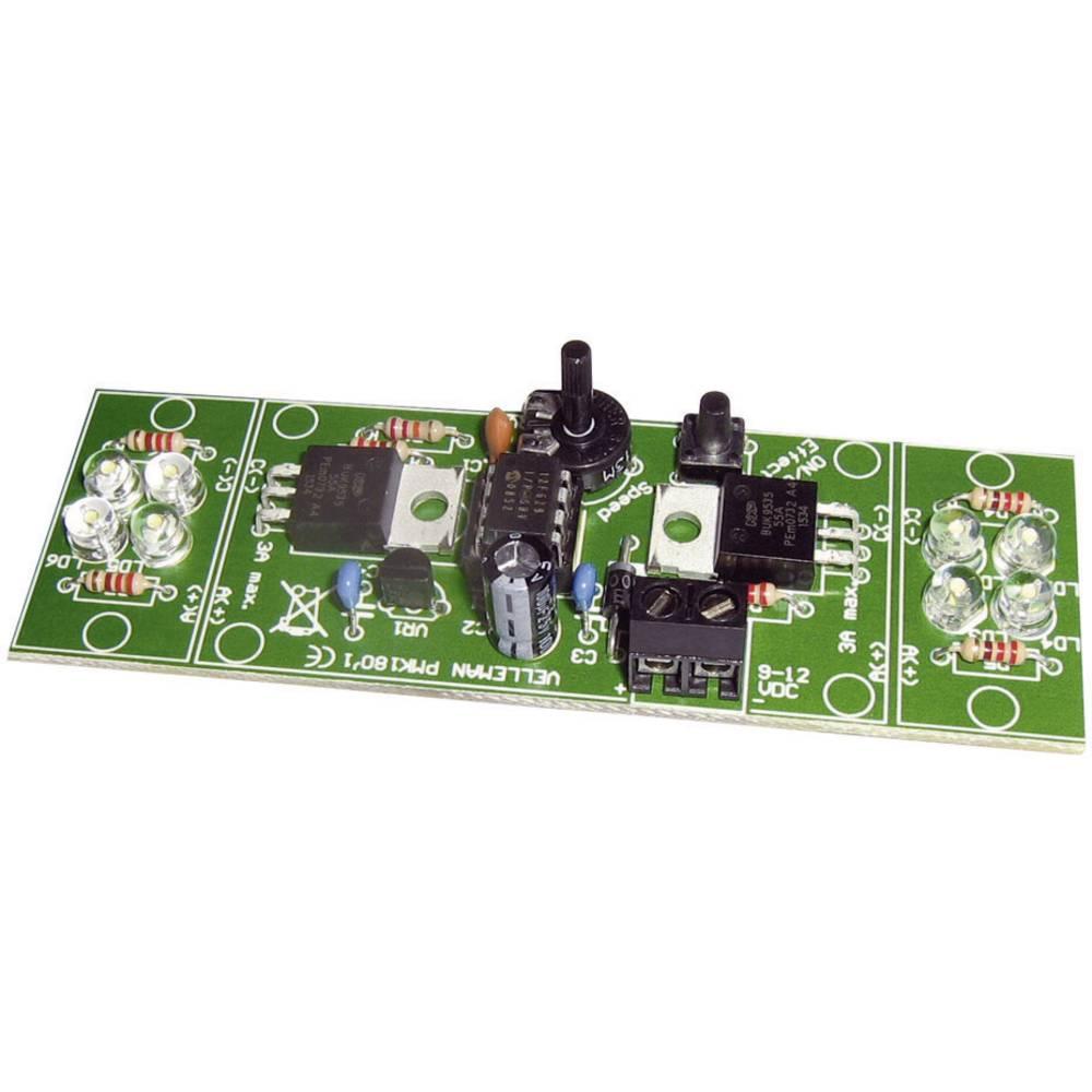 Velleman 2-kanalna visokozmogljiva LED utripalka MK180 Komplet za sestavljanje 12 V/DC
