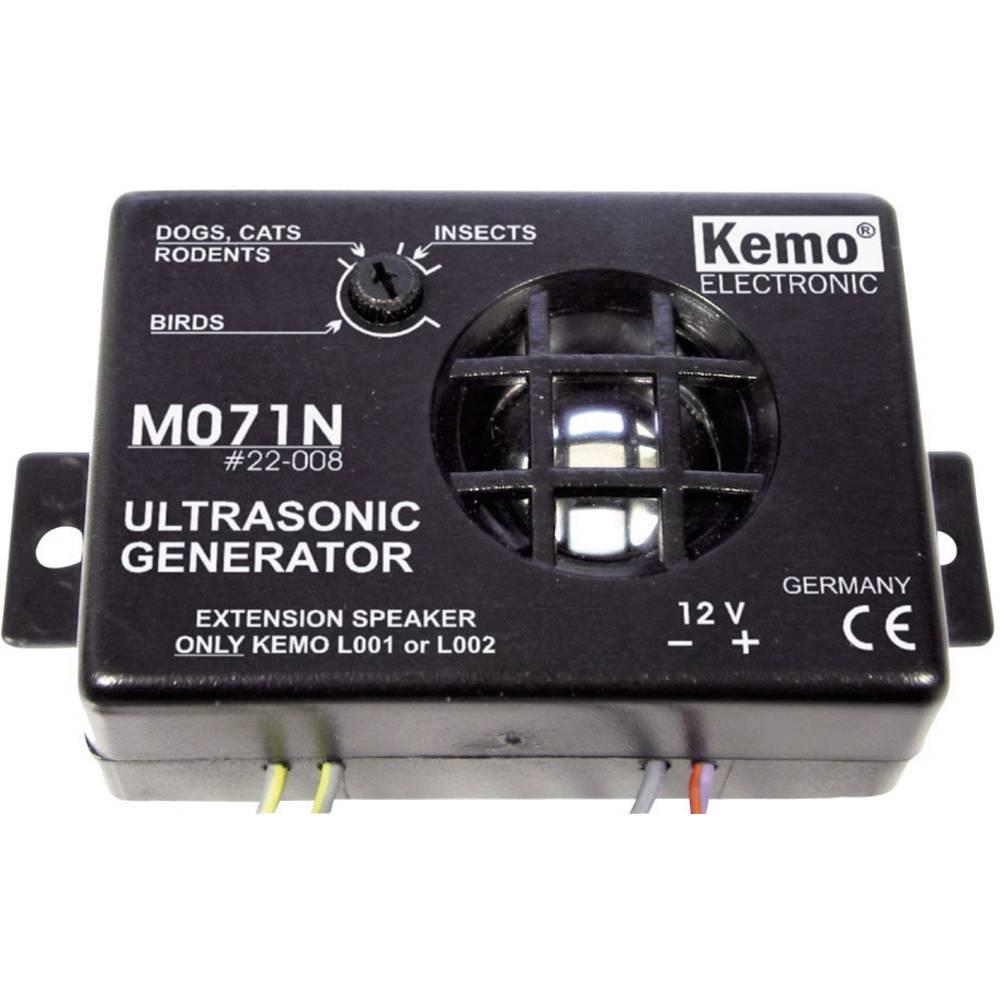 Multifrekvenčni odganjalnik živali Kemo M071N območje delovanja 30 m 1 kos