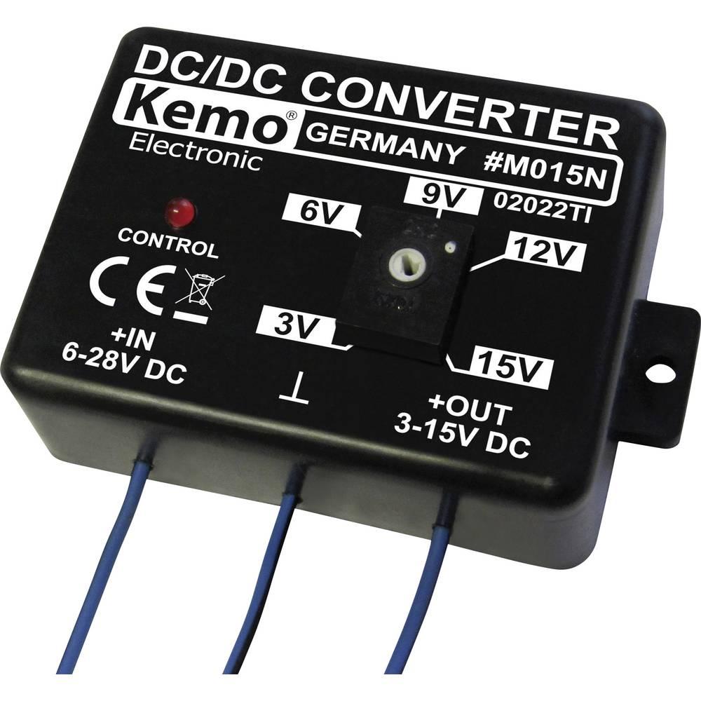 Pretvornik napetosti - modul Kemo vhodna napetost: 28 - 6 V/DC izhodna napetost: 15 - 3 V/DC