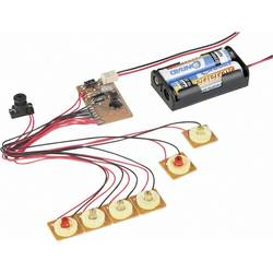 6-kanalni modul za LED trčeće svjetlo s alarmom pokreta 191097 Conrad 3 V/DC Komplet za sastavljanje