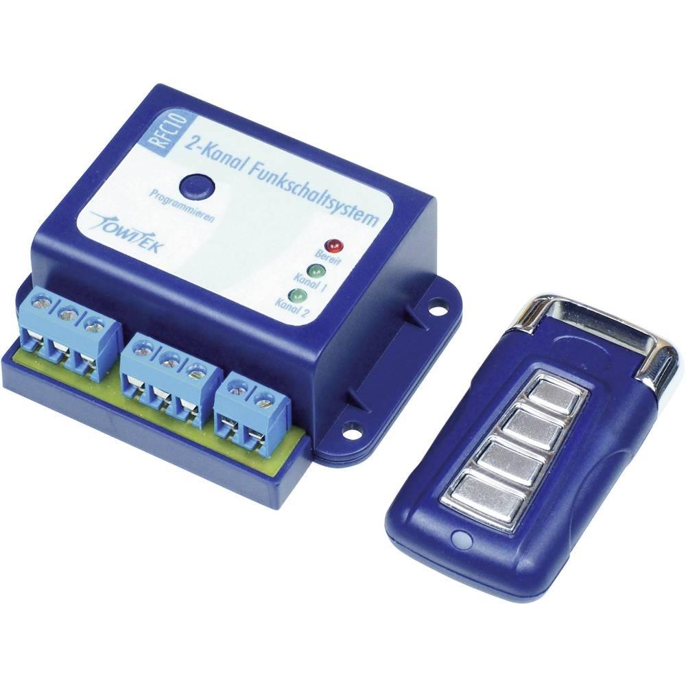 TowiTek 2-kanalni radijski stikalni sistem in ročni oddajnik